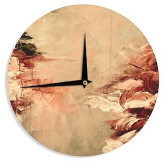 KESS InHouse Ebi Emporium 'Winter Dreamland 7' Orange Maroon Wall Clock