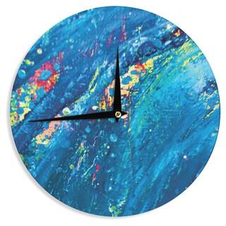 KESS InHouse Theresa Giolzetti 'Big Wave' Wall Clock