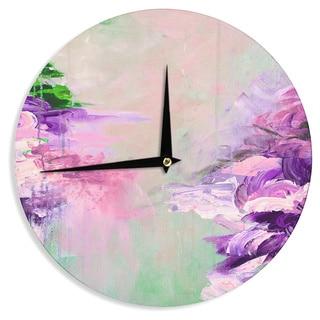 KESS InHouse Ebi Emporium 'Winter Dreamland 4' Pink Purple Wall Clock