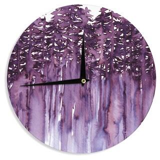 KESS InHouse Ebi Emporium 'Forest Through The Trees 2' Purple White Wall Clock