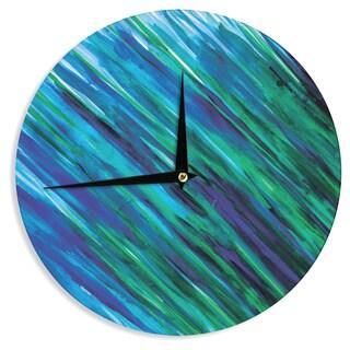 KESS InHouse Theresa Giolzetti 'Set Blue' Wall Clock