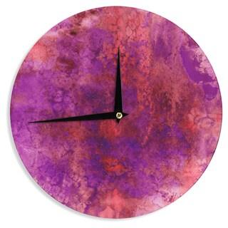 KESS InHouse Ebi Emporium 'Epoch 3' Red Purple Wall Clock
