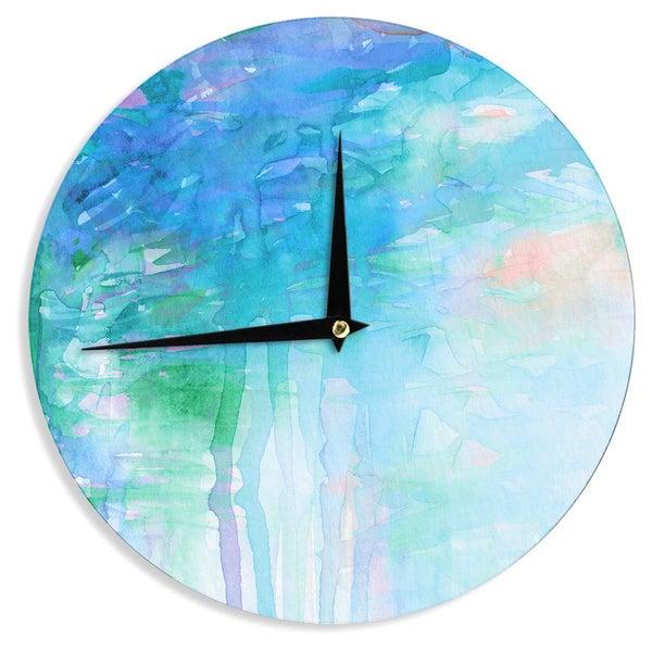 KESS InHouse Ebi Emporium 'Childlike Wonder' Blue Pastel Wall Clock