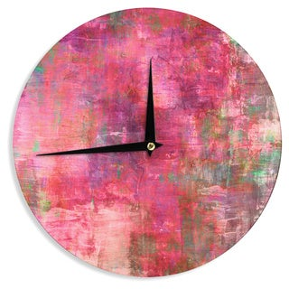 KESS InHouse Ebi Emporium 'Into The Tropics' Coral Love Wall Clock