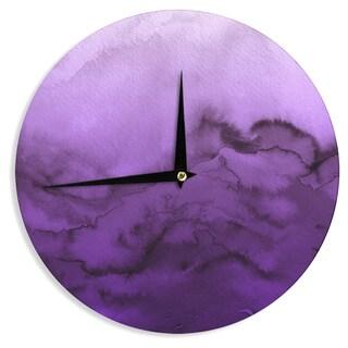 KESS InHouse Ebi Emporium 'Winter Waves 9' Purple Abstract Wall Clock