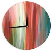 KESS InHouse Ebi Emporium 'Irradiated Multi 1' Red Olive Wall Clock