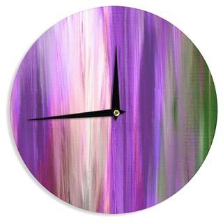 KESS InHouse Ebi Emporium 'Irradiated Multi 2' Purple Lavender Wall Clock