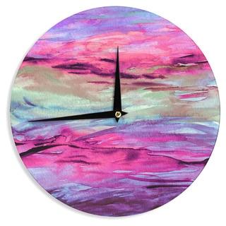 KESS InHouse Ebi Emporium 'Unanchored 4' Pink Lavender Wall Clock