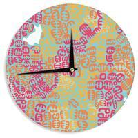 KESS InHouse Theresa Giolzetti 'Oliver' Magenta Wall Clock