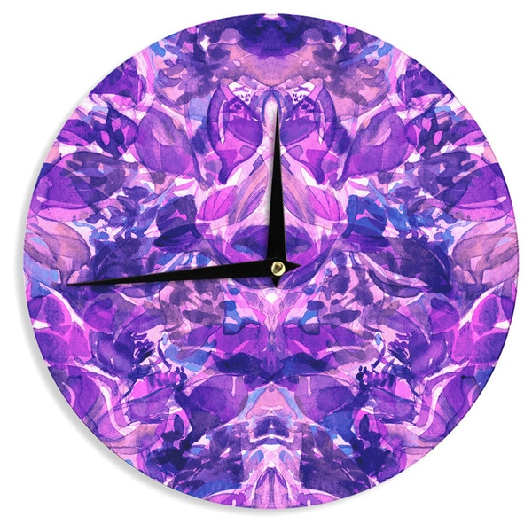 KESS InHouse Ebi Emporium 'Enchanted Forest 8' Purple Pink Wall Clock
