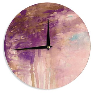 KESS InHouse Ebi Emporium 'Carnival Dreams 4' Purple Brown Wall Clock