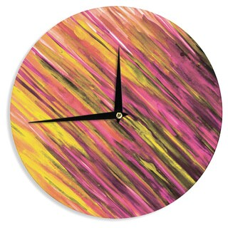 KESS InHouse Theresa Giolzetti 'Set Orange' Wall Clock