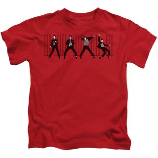 Elvis/Jailhouse Rock Short Sleeve Juvenile Graphic T-Shirt in Red