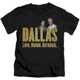 Dallas/Logo Short Sleeve Juvenile Graphic T-Shirt in Black