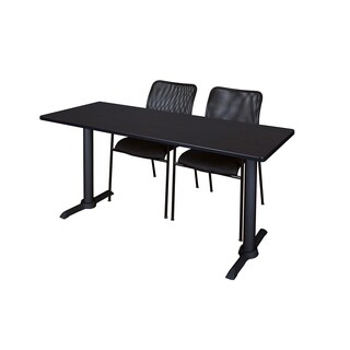 Regency Seating Cain Black 66-inch x 24-inch Training Table and 2 Mario Stack Chairs