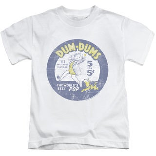 Dum Dums/Pop Parade Short Sleeve Juvenile Graphic T-Shirt in White