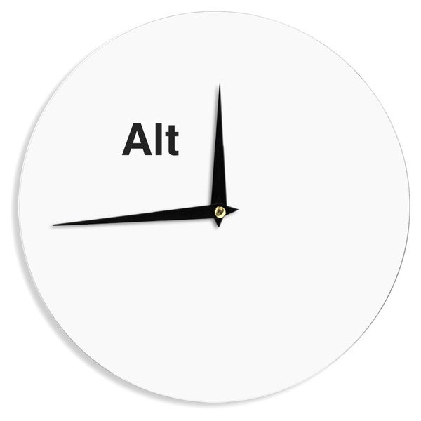 KESS InHouse Jackie Rose 'Alt' Black White Wall Clock