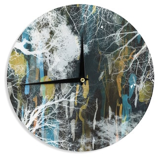 KESS InHouse Iris Lehnhardt 'Tree Of Life' Abstract Blue Wall Clock