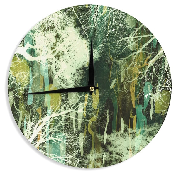 KESS InHouse Iris Lehnhardt 'Tree Of Life Green' Nature Green Wall Clock