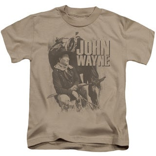 John Wayne/In The West Short Sleeve Juvenile Graphic T-Shirt in Sand