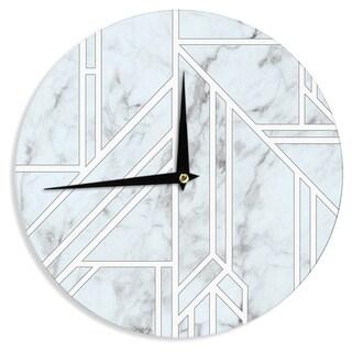KESS InHouse KESS Original 'Marble Mosaic' Geometric Digital Wall Clock