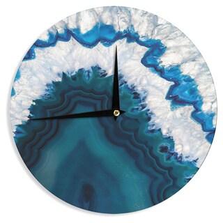 KESS InHouse KESS Original 'Blue Geode' Nature Photography Wall Clock