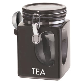 Oggi Corporation 5830.3 Black EZ Grip Tea Canister
