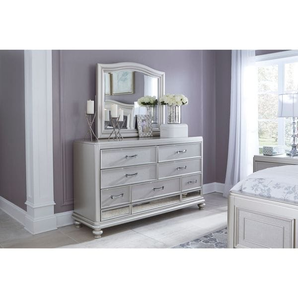 Signature Design By Ashley Coralayne Silver Bedroom Mirror Free Shipping Today Overstock