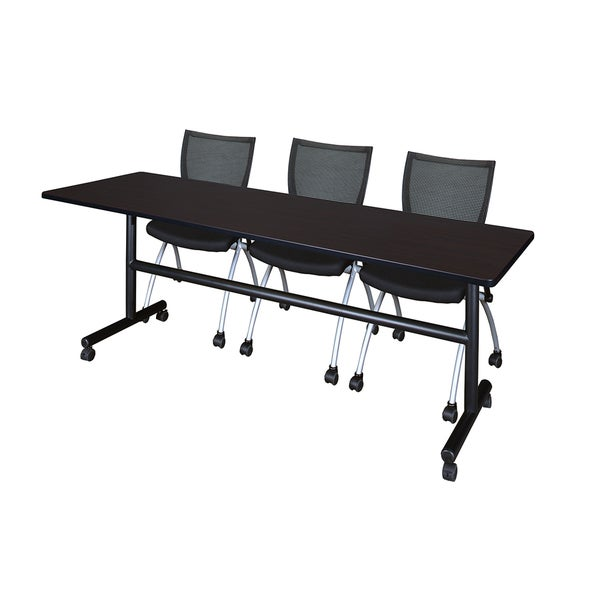 Shop Kobe Black LaminateWoodMetal Inch Flip Top Mobile Training - 84 inch conference table