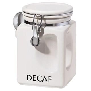 Oggi Corporation White EZ Grip Decaf Coffee Canister