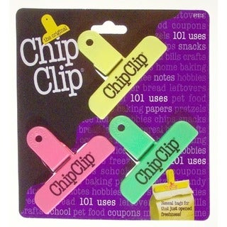 "Chip Clip 97313 3"" Bright Chip Clip 3-count"