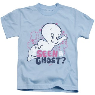 Casper/Seen A Ghost Short Sleeve Juvenile Graphic T-Shirt in Light Blue