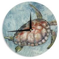 KESS InHouse Josh Serafin 'Home Bound' Blue Brown Wall Clock