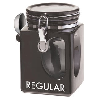 Oggi Corporation 5828.3 Black EZ Grip Regular Coffee Canister