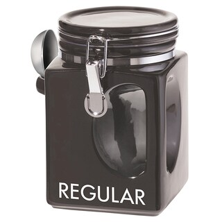 Oggi Corporation 5828.3 Black EZ Grip Regular Coffee Canister