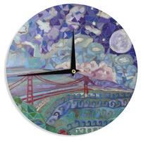 KESS InHouse Theresa Giolzetti 'San Fran' Blue Teal Wall Clock