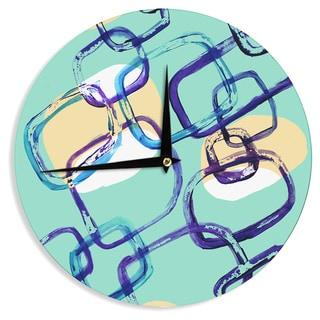 KESS InHouse Theresa Giolzetti 'Sixties Exposure' Blue Teal Wall Clock