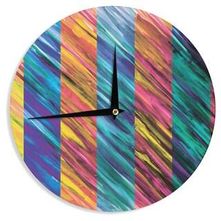 KESS InHouse Theresa Giolzetti 'Set Stripes I' Wall Clock