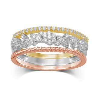 Unending Love 10-Karat Tri-Color Gold Diamond Stackable Ring|https://ak1.ostkcdn.com/images/products/12596363/P19392920.jpg?impolicy=medium