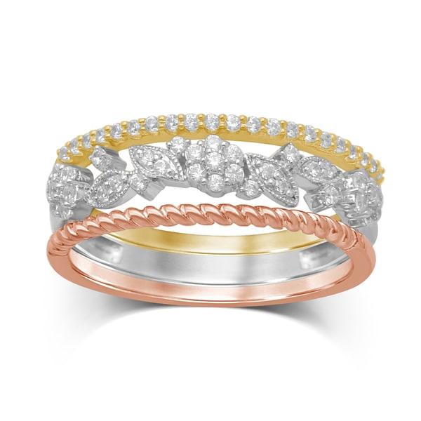 Shop Unending Love 10K Tri-Color Gold Diamond ( H-I Color