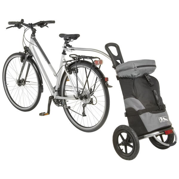Ventura Shop and Ride Black Nylon Luggage Trailer and Cart