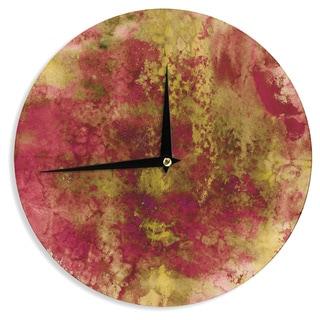KESS InHouse Ebi Emporium 'Epoch 4' Red Green Wall Clock
