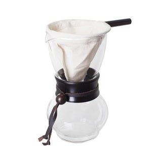 Hario Clear Glass and Wood 480-milliliter Woodneck Coffee Pot