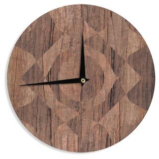 KESS InHouse Matt Eklund 'Indigenous' Beige Brown Wall Clock