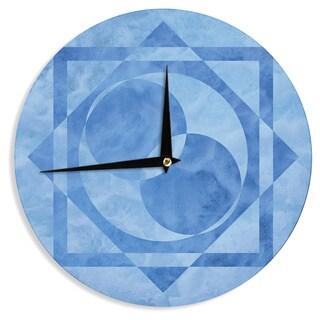 KESS InHouse Matt Eklund 'Seafoam' Blue Geometric Wall Clock
