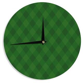 KESS InHouse Matt Eklund 'Overgrowth' Forest Green Wall Clock