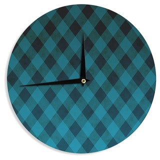 KESS InHouse Matt Eklund 'Deep Current' Blue Pattern Wall Clock