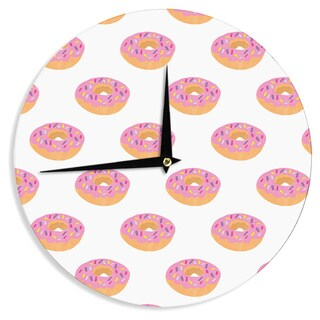 KESS InHouse Vasare Nar 'Doughnut Heaven' Pink Digital Wall Clock