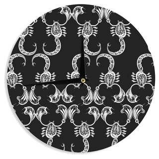 KESS InHouse Maria Bazarova 'Scorpio' Nature Black Wall Clock
