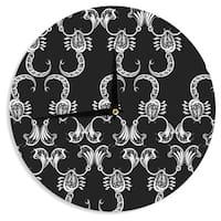 KESS InHouse Maria Bazarova 'Scorpio' Nature Black Wall Clock